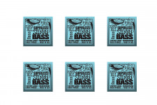 2849 (6 MUTE) SET S.LONG SCALE HYB.SLINKY BASS 45-105 ERNIE BALL