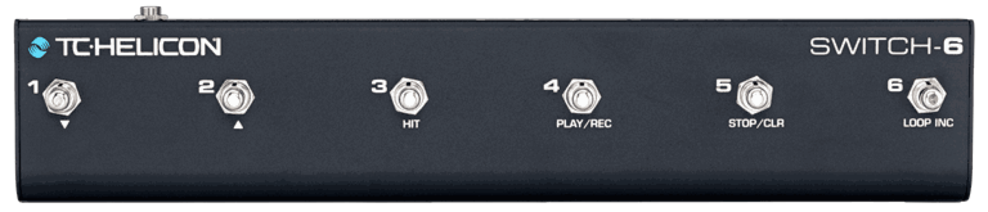 TC Helicon SWITCH-6 Pedal Switch for FX VoiceLive Control