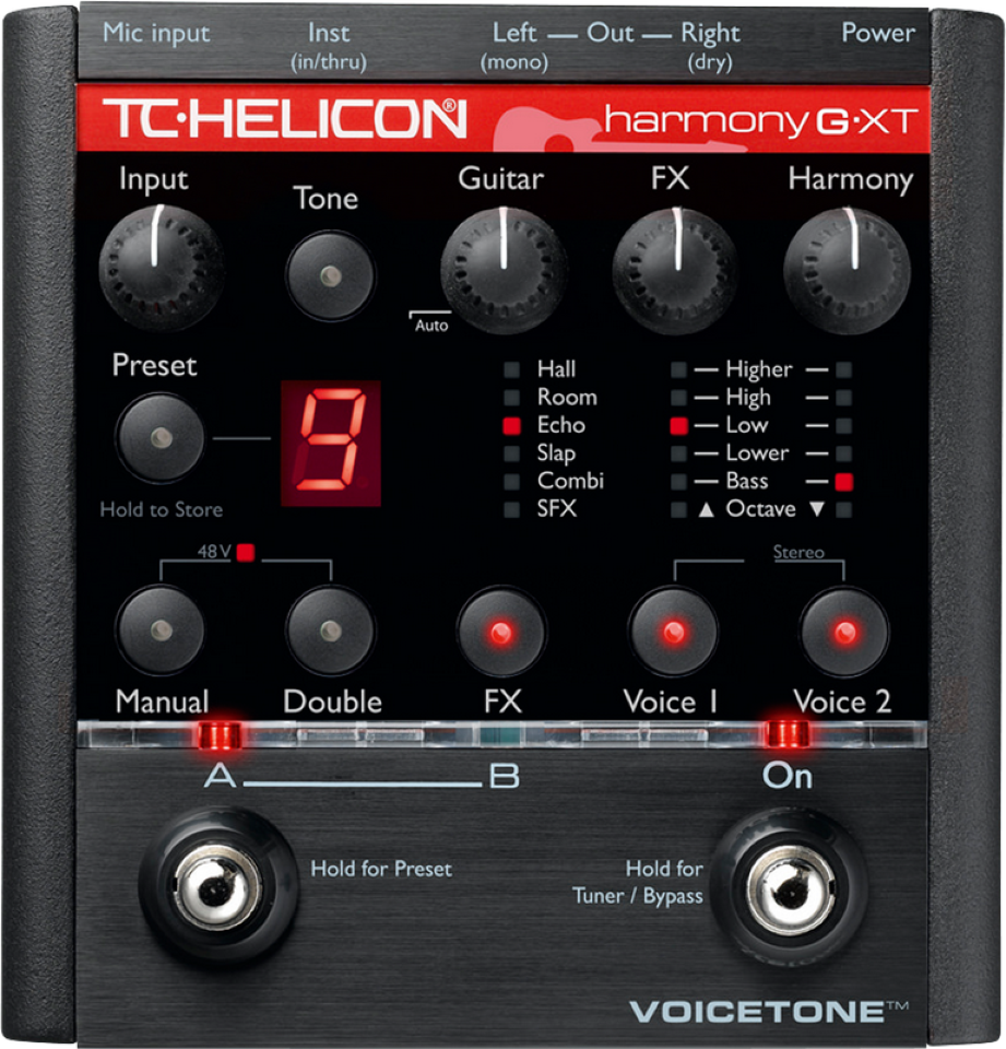 TC Helicon VOICE TONE HARMONY-G XT Harmony Vocal Processor