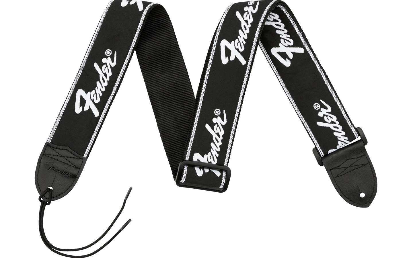 Fender Running Logo Strap Black