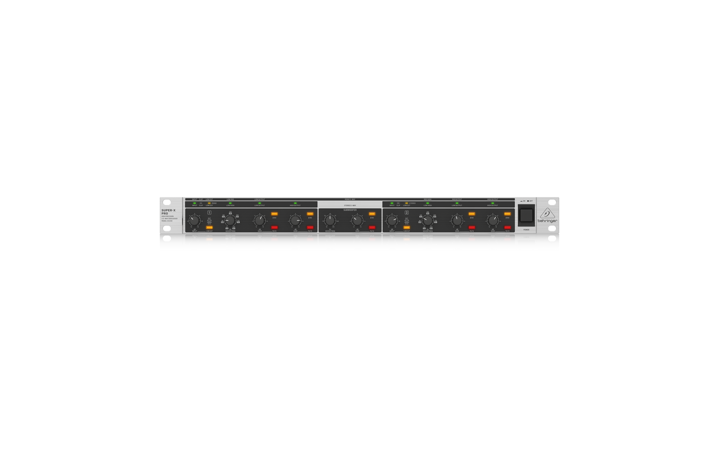 Behringer CX2310 V2 Stereo 2-Way/Mono 3-Way Crossover Rack